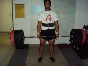 Karoshi doing a 215kg deadlift