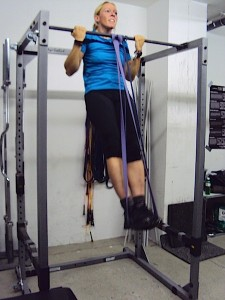 Ulrike doing a pull up
