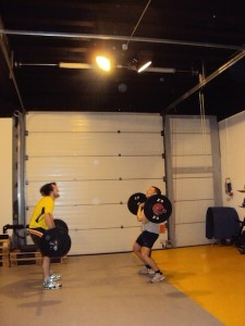 Remo and Mirco doing push press