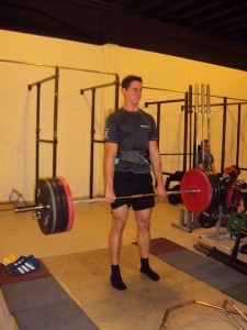 Daniel doing a deadlift