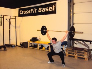 Aaron doing an overhead squat