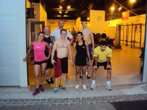 Guests from CrossFit Active, Australia: Luke and Thuc