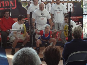 65kg Backsquat: Judith Gedney, -44kg BW, 71 years old