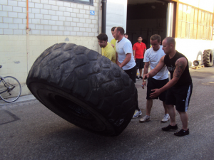 Tire Flipping Warm Up