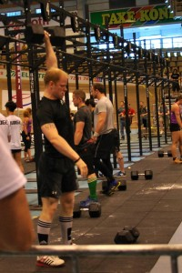 Tom: Dumbbell Snatch 46kg