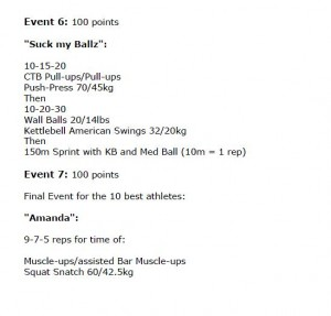 Events 6-7