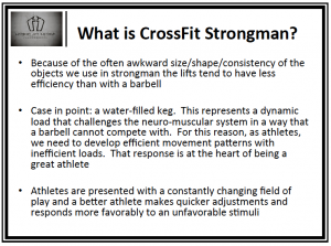 What is CrossFit Strongman?