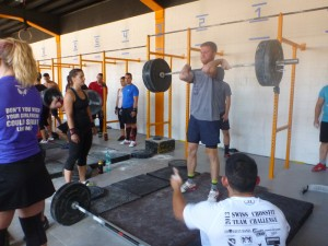 CrossFit Team CHallenge 2013 - 5 Rep Max of Hang Squat Clean
